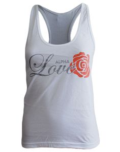 "Alpha Love Tank Adam Block Design - Use code ""fsuKL1001"" for 10% off your first order and 5% off every order after!"