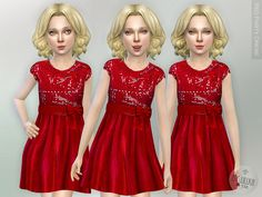 Red Party Dress  Found in TSR Category 'sims 4 Female Child Everyday'