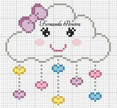 Free Cross Stitch Charts, Cross Stitch Love, Cross Stitch Designs, Cross Stitch Patterns, Knitting Stitches, Baby Knitting, Printable Graph Paper, Cross Stitch Silhouette, Baby Wall Art