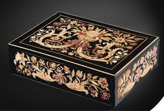 Sold for 12,000 Euro @ Sotheby's A FLOWER MARQUETRY CASKET, LOUIS XIV #antique #vintage #box