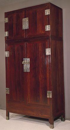 Wardrobe, Ming dynasty, 16th century  China  Wood (Huanghuali/Dalbergia odoriferal)