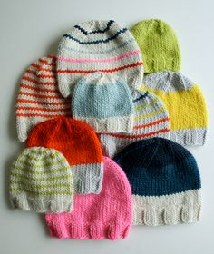 Super Soft Merino Knit Hats .... pattern