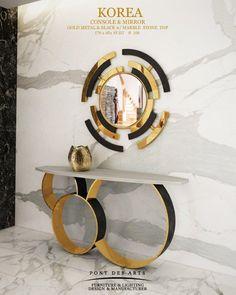 Korea Console & Mirror - Pont des Arts Studio - Designer Monzer Hammoud - Paris -