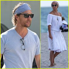 Matthew McConaughey & Camila Alves Soak Up the Warm Miami Weather