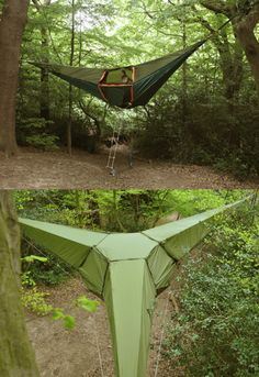 suspended camping tent by Tentsile...must have one, then I can win the tent wars!