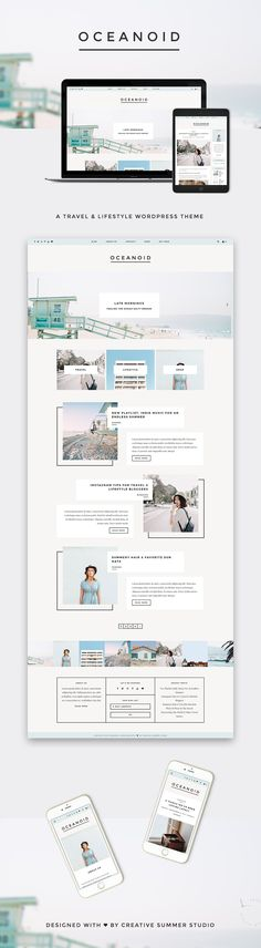 Oceanoid - Travel & Lifestyle Theme by Creative Summer Studio on @creativemarket