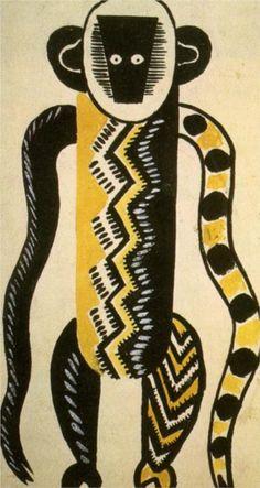 Fernand Leger – Costume design for La creation du monde