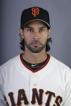 This is a 2014 photo of Angel Pagan of the San Francisco Giants baseball team.