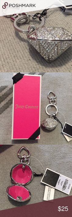 Juicy Couture keychain Sparkly super cute keychain Juicy Couture Accessories