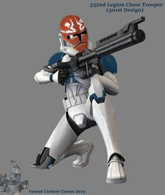 Clone Trooper by Venomblazer on DeviantArt Droides Star Wars, Star Wars Jokes, Star Wars Fan Art, Star Wars Characters Pictures, Star Wars Pictures, Star Wars Images, Guerra Dos Clones, Dc Comics, Starwars