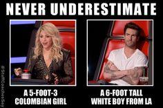 Never underestimate… #StuffCoachesSay #TheVoice