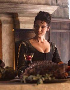 Caitriona Balfe as Claire.