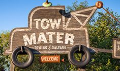 Mater's Junkyard Jamboree  Ages:Pre-schoolers, Kids, Pre-teens & Teens, Adults, All Ages  Come on down for a tow-tappin' square dance hosted by Mater from the Disney•Pixar movie Cars! Board a trailer pulled by an adorable baby tractor and swing in time to the lively music.