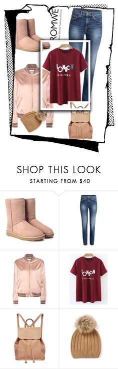 """""""Romwe contest !"""" by jasna-dix ❤ liked on Polyvore featuring UGG, Yves Saint Laurent and Urban Originals"""
