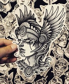 Dove Tattoos, Pin Up Tattoos, Mini Tattoos, Blackwork, Tattoo Sketches, Tattoo Drawings, Neo Tradicional Tattoo, Mythology Tattoos, Dot Work Tattoo