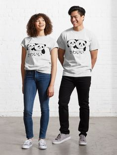 """Kawai Panda Japanese"" T-shirt by Tema01 