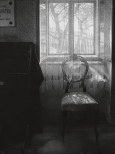 Josef Sudek photograph - Chair in Janacek's House 1948. Leos Janacek 1854 - 1928