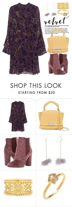 """Crushing on Velvet 4449"" by boxthoughts ❤ liked on Polyvore featuring Jadicted, ZAC Zac Posen, Sam Edelman, Taolei, Konstantino, Chan Luu and velvet"