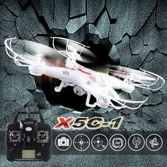 Free shipping 2.4G 4CH 6-Axis X5C Upgraded X5C-1 quadcopter rc helicopter drone with 2MP HD camera VS mjx x101 syma x5c x8w