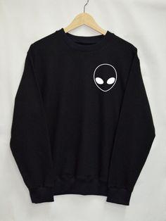 Alien Shirt Sweatshirt Clothing Sweater Top Tumblr Fashion Funny Text Slogan Dope Jumper tee