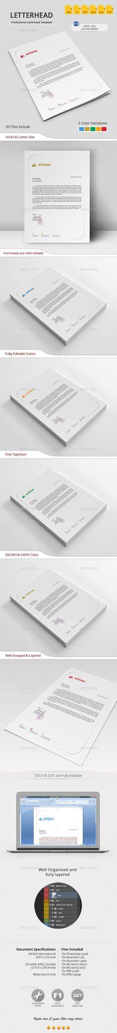 letter format on letterhead%0A Letterhead Design Template PSD   Letterhead Design Templates   Pinterest    Letterhead design  Business and Letterhead examples
