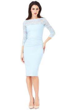Fitted Midi Dress, Lace Dress, Nice Dresses, Formal Dresses, Wedding Dresses, Scalloped Lace, Classic Style, Neckline, London