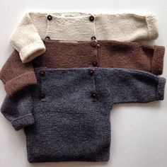 Beautiful Alpaca Sweater - Grey, Natural, Oatmeal & Brown - 0m-2y