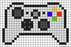 Xbox 360 controller perler bead pattern minecraft pixel art grid maker anime id… Perler Bead Designs, Pearler Bead Patterns, Perler Bead Art, Perler Patterns, Perler Beads, Draw Minecraft, Pixel Art Minecraft, Mine Minecraft, Minecraft Crafts
