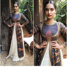 """Sonam Kapoor looked super gorgeous in a Rohitbal ensemble  #sonamkapoor #indianwear #indiandesigner #rohitbal #indianfashion #hairandmakeup #instalove…"""""""