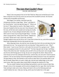 Printables Teacher Worksheets For 3rd Grade first grade reading comprehension worksheet remembering your 3rd 4th the lion that couldnt roar