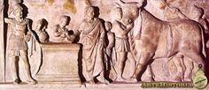 Souvetaurilia (Altar de Domicio Enobardo) - Siglo I AC,marmol  Museo de Louvre