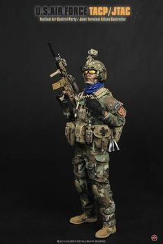 1/6 Soldier Story SS075 US Air Force TACP / JTAC FREE SHIPPING WORLDWIDE #soldierstory  I think these are the cutest dolls.  I don't think the price tag is nearly as appealing Military Action Figures, Special Ops, Us Air Force, Cute Dolls, Toy Story, First Love, Cool Photos, Kids, Soldiers