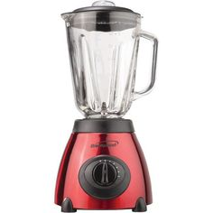 5-Speed Blender with Stainless Steel Base & Glass Jar (Red)