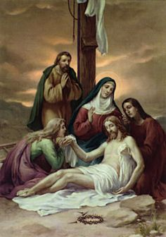 Stations of the Cross - Thirteenth Station: The body of Jesus is taken down from the cross