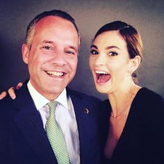 Actress Lily James with GM Henrik Muehle