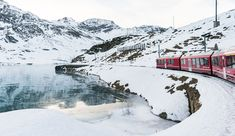 On the Bernina Express all you have to do is sit back and soak up the fairytale scenery - The perfect trip for a mid-holiday breather! Bernina Express, Fairy Tales, Scenery, Around The Worlds, Adventure, Travel, Outdoor, Outdoors, Trips