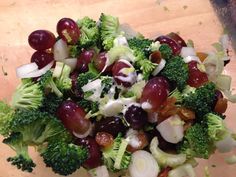 Grape Broccoli Salad - by Dogwood Crafters, Chef Brenda Anders