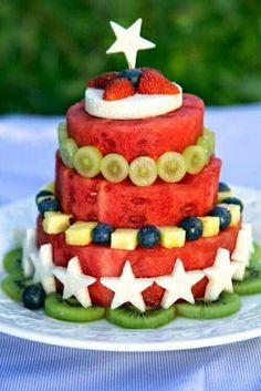 Tarta de frutas. Tarta cumpleaños. Baby led weaning #BLW