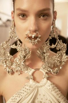 Givenchy Haute Couture, silver jewelry