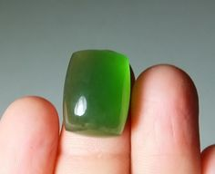 17 Carat Natural Untreated Green Serpentine 13.5x17.9 MM Cushion Shape Cabochon #Unbranded