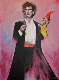 Keith Richards - Mick Jagger Puppet by Kim Overholt Art.