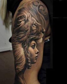 #Für Frauen Tatowierung 2018 Leistungsstarke Löwen Tattoo Ideen  #neutatto #2018Tatto #tattoo #Neu #tatto#Leistungsstarke #Löwen #Tattoo #Ideen