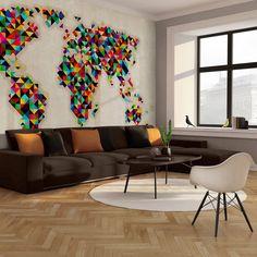 bilderdepot24 selbstklebende fototapete weltkarte retro 230x150 cm direkt vom hersteller. Black Bedroom Furniture Sets. Home Design Ideas