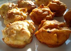 Two types of savory vegan muffins: Pumpkin-miso and Carrot-onion-hazelnuts