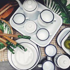 www.rustonline.com.au IG: @rustavalon  #enamel #enamelware #enamelkitchen #kitchenware #kitchen  #kitchendesign  #kitchendecor  #kitchenideas  #kitchendesign #enamel  #homewares #palmtrees Kitchenware, Tableware, Rust, Pottery, Plates, Design, Tea Sets, Ceramica, Licence Plates
