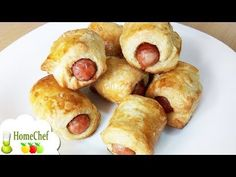 Easy sausage puff pastry roll recipe to prepare spicy mini sausage rolls and enjoy a tasty appeti. Homemade Sausage Rolls, Spicy Sausage, Delicious Sandwiches, Pastry And Bakery, Wrap Recipes, Pretzel Bites, Easy Meals, Appetizers, Tasty