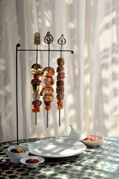 Charcol roasted kebab on skewers - La Sultana