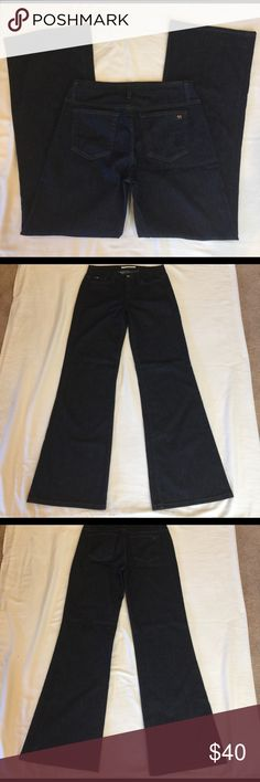 🎉HOST PICK🎉🌺🌸JOE'S🌸🌺Wide Leg Muse Jeans SZ29 🌺🌸 JOE'S 🌸🌺 Gorgeous Jeans SZ29 Wide Leg Muse 33 inch inseam.  Preloved in great condition.  Awesome Dark Wash Jeans they look great and can be dressed up when you have a great pair of dark wash jeans.  Perfect for that wear jeans to work day! Joe's Jeans Jeans Flare & Wide Leg