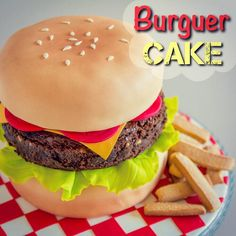 Burger Cake Video Tutorial