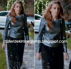 Medcezir - Mira (Serenay Sarıkaya), Metallic Leather Jacket